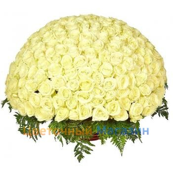 "Basket ""201 white rose"""