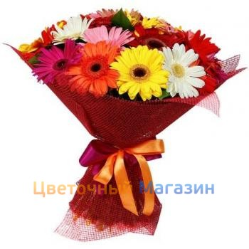 "Bouquet ""19 colored Gerber"""