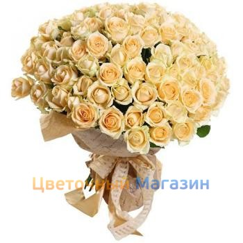 "Bouquet ""101 cream rose"""