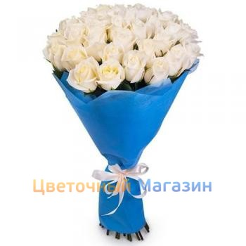 "Bouquet ""25 white roses"""