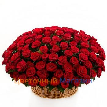 "Basket ""201 red roses""Basket ""201 red roses"""