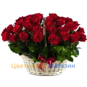 "Basket ""31 red rose""Basket ""31 red rose"""