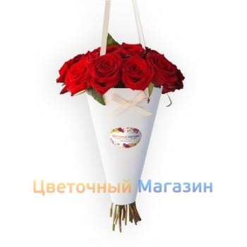 "MonoBuket ""Of red roses"""
