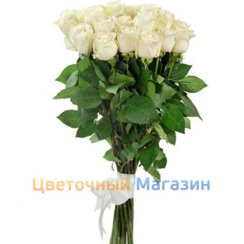 "Bouquet ""19 White roses"""