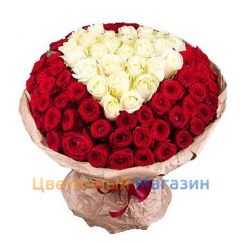 "Bouquet ""101 roses for the beloved"""