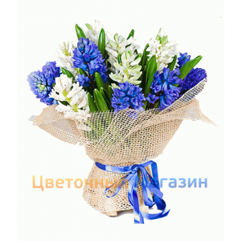 "Bouquet ""Blue-White Hyacinths"""