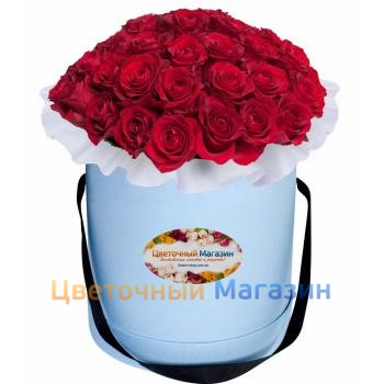Buy red roses in a hat boxBuy red roses in a hat box