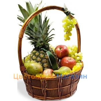 Fruit pineapple apples pears grapes the delivery of fruits and