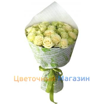 "Bouquet ""23 White roses""Bouquet ""23 White roses"""