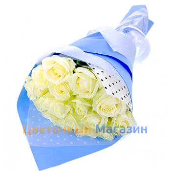 "Bouquet ""15 White Rose""Bouquet ""15 White Rose"""