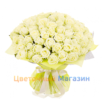 "Bouquet ""101 White Rose""Bouquet ""101 White Rose"""