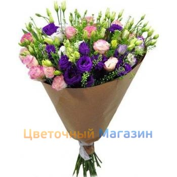 "Bouquet ""25 colorful eustomas"""