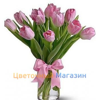"Bouquet ""11 pink tulips"""