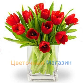 "Bouquet ""11 red tulips""Bouquet ""11 red tulips"""