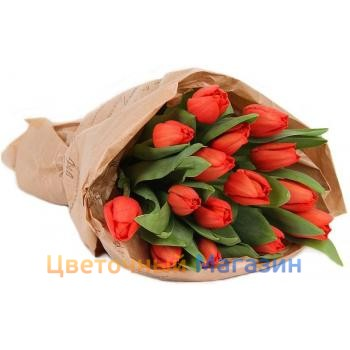 "Bouquet ""15 red tulips""Bouquet ""15 red tulips"""