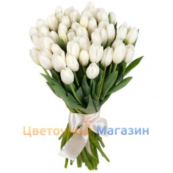 "Bouquet ""51 white Tulip"""