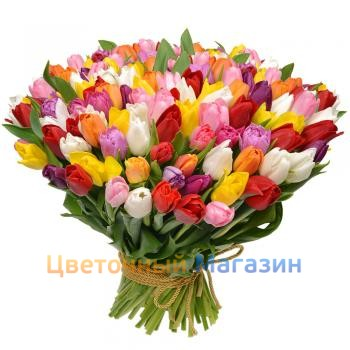 "Bouquet ""101 Tulip mix"