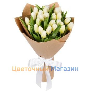 "Bouquet ""25 white tulips"""