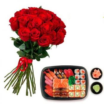 """25 roses and sushi""""25 roses and sushi"""