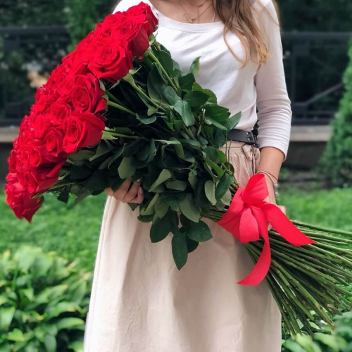 "Buy a Bunch of ""Dutch rose from 51"", to Deliver a bouquet of 51 Dutch  roses, a nice bouquet of 51 Dutch roses buy in Dnipro"