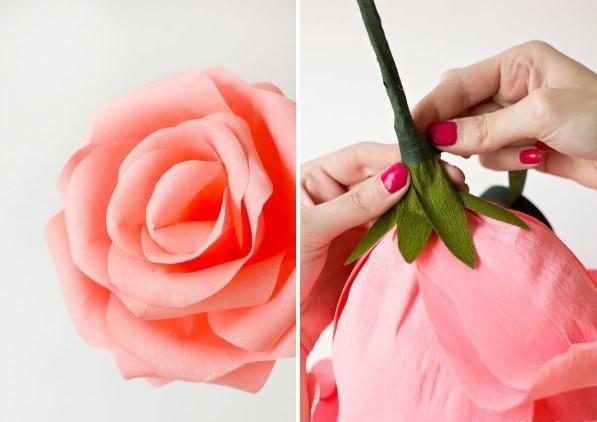 Гигантские розы из креповой бумаги своими руками мастер класс 45